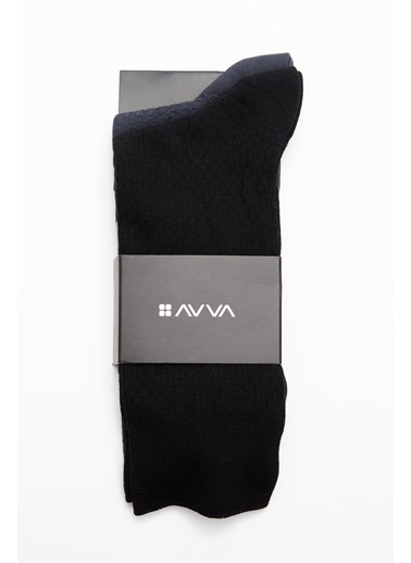 Avva 2'li Çorap Siyah